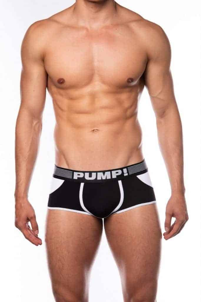 PUMP Access Open Back Boxer, Black