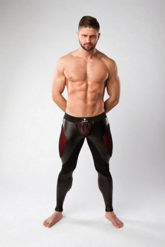 MASKULO Armoured Leggings with Removable Pouch, Thigh Pads + Zip Up Rear