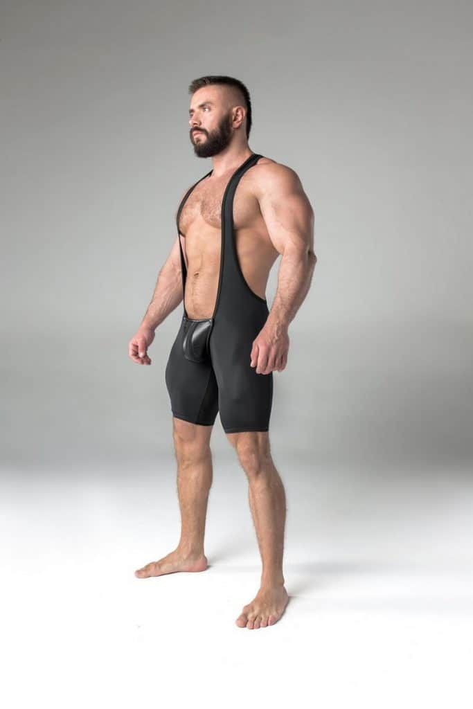 MASKULO Mens Fetish Singlet with Removable Pouch