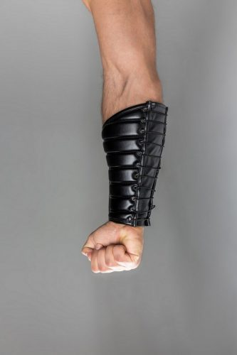 MASKULO Leather Forearm Guard Wallet with Padding