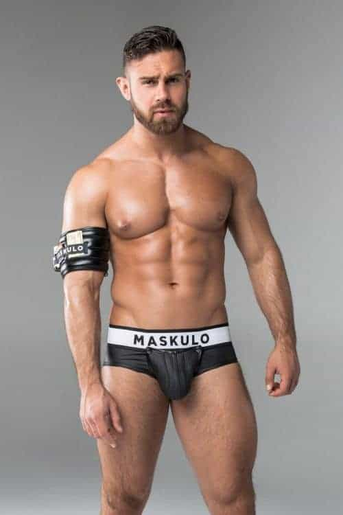 MASKULO LEATHER BACKLESS BRIEFS