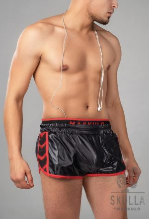 Maskulo skulla leather running shorts