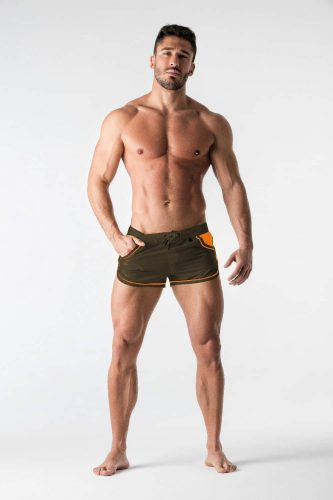 MASKULO BeGuard Club Swim Shorts with Contrast Mesh
