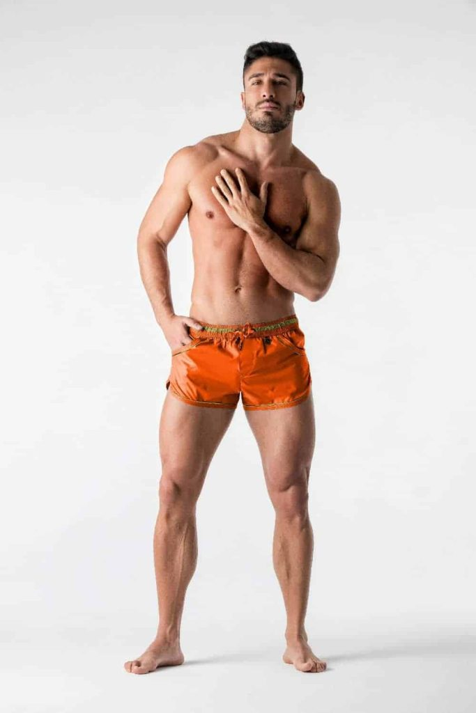 MASKULO BeGuard Club Swim Shorts with Foil Piping