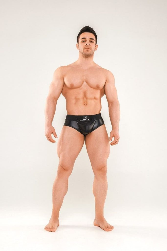 MASKULO Armored Next Brief with Zip Up Rear + Removable Enhancing Pouch