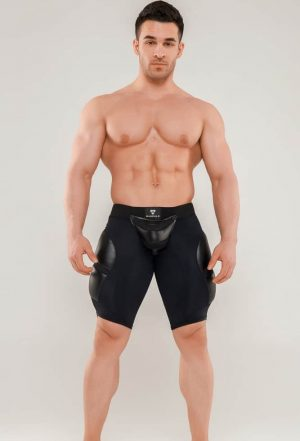 MASKULO Armored Next Fetish Shorts, Black