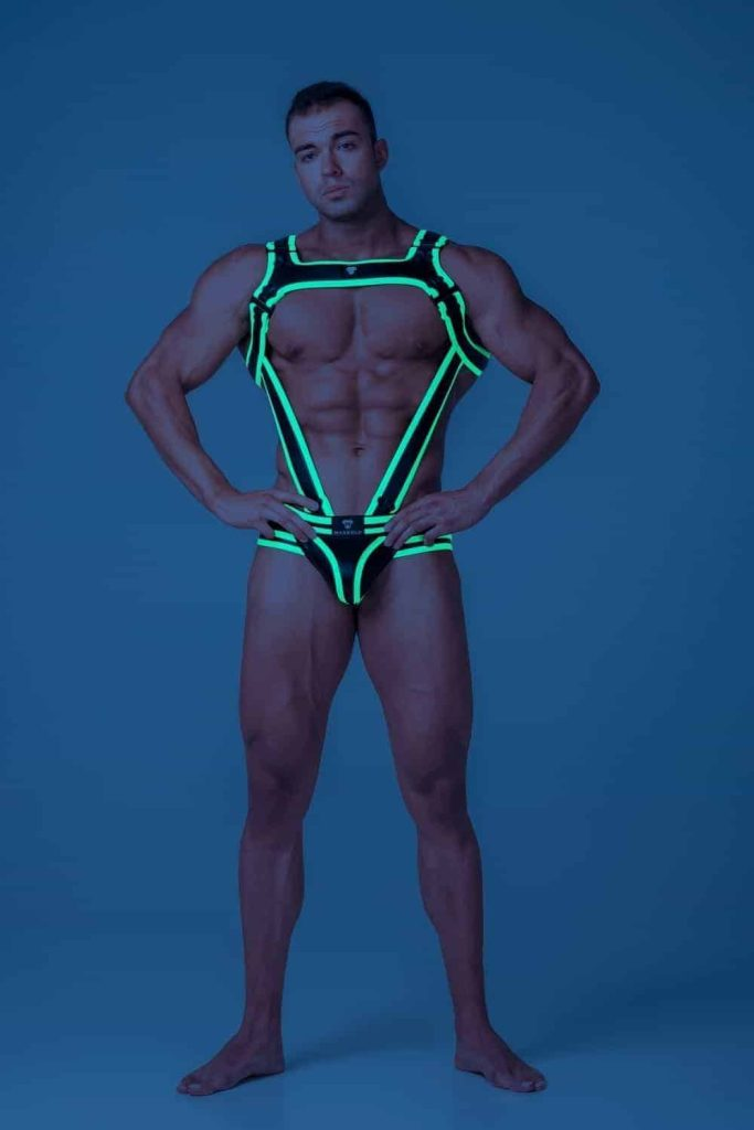 MASKULO Youngero Bulldog Body Harness with C-Ring