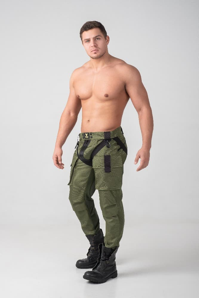 MASKULO Enforce Cargo Pant with Front + Rear Zip