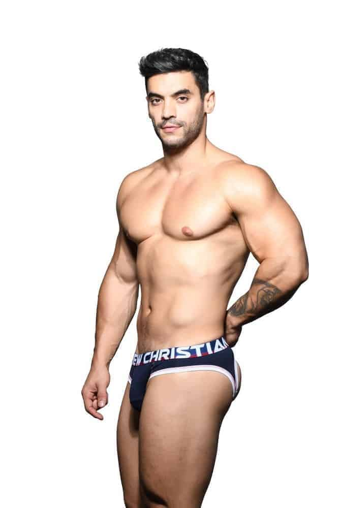 ANDREW CHRISTIAN Almost Naked Cotton Backless Brief with Hang Free Pouch
