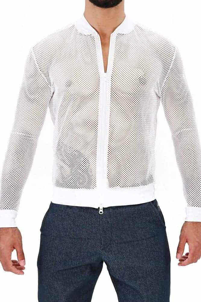 TOF PARIS Ibiza See-Through Mesh Vest Jacket