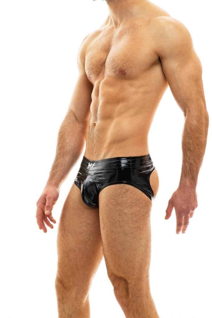 MODUS VIVENDI Bottomless PVC Vinyl Brief