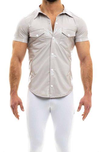 MODUS VIVENDI Mens PVC Vinyl Shirt