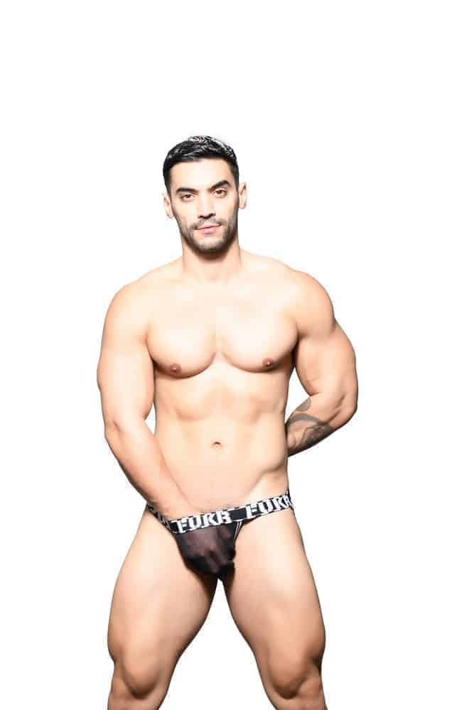 ANDREW CHRISTIAN FUKR Sheer Mesh See-Through Jockstrap