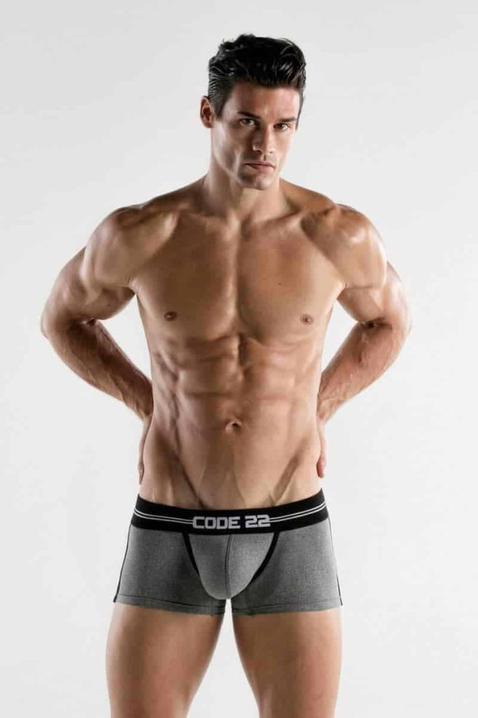 CODE22 Mens Padded Boxer with Power Shape Enhancement Padding