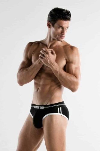 CODE22 Mens Padded Brief with Power Shape Enhancement Padding