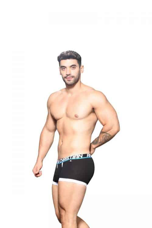 Mens Black Boxer with Fly