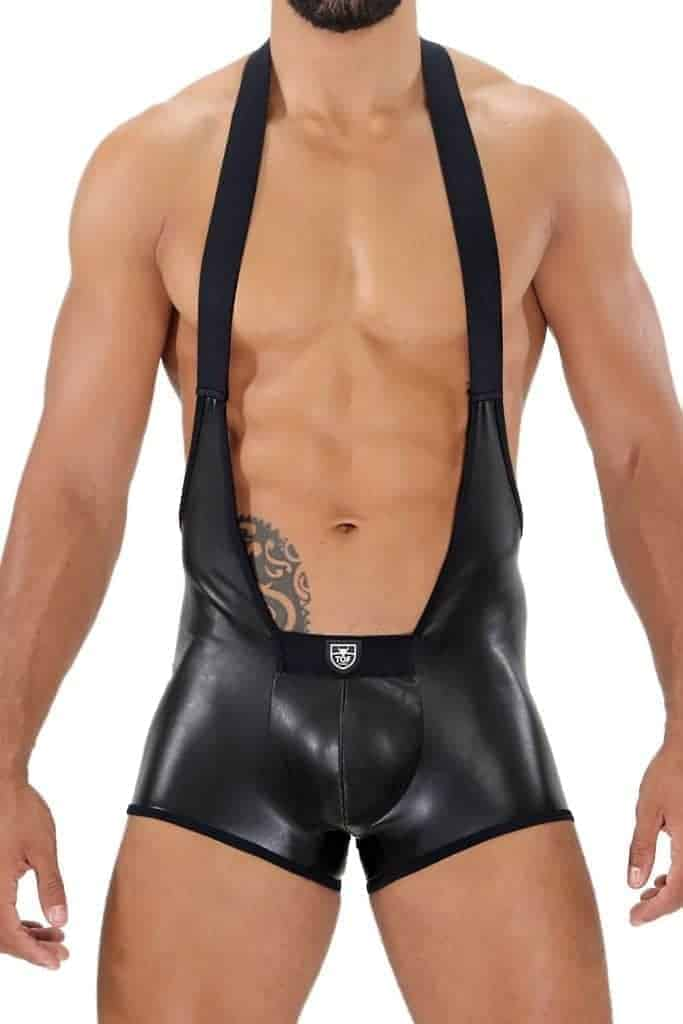 TOF PARIS Fetish Leatherette Singlet