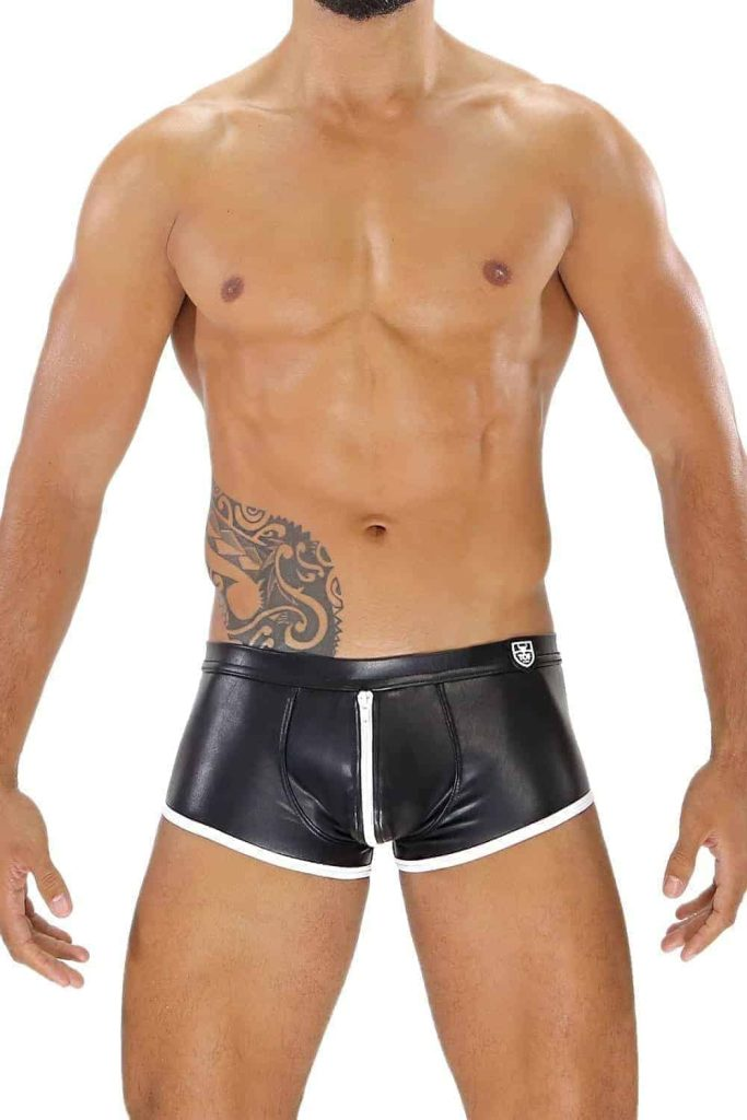 TOF PARIS Fetish Full Zip Leatherette Boxer