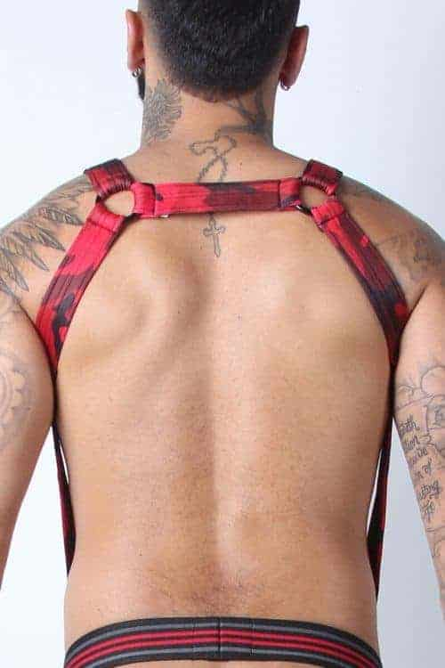 Mens camouflage body harness