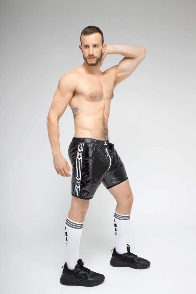 MASKULO SKULLA Shiny Soccer Short with C-Ring + Full Zip