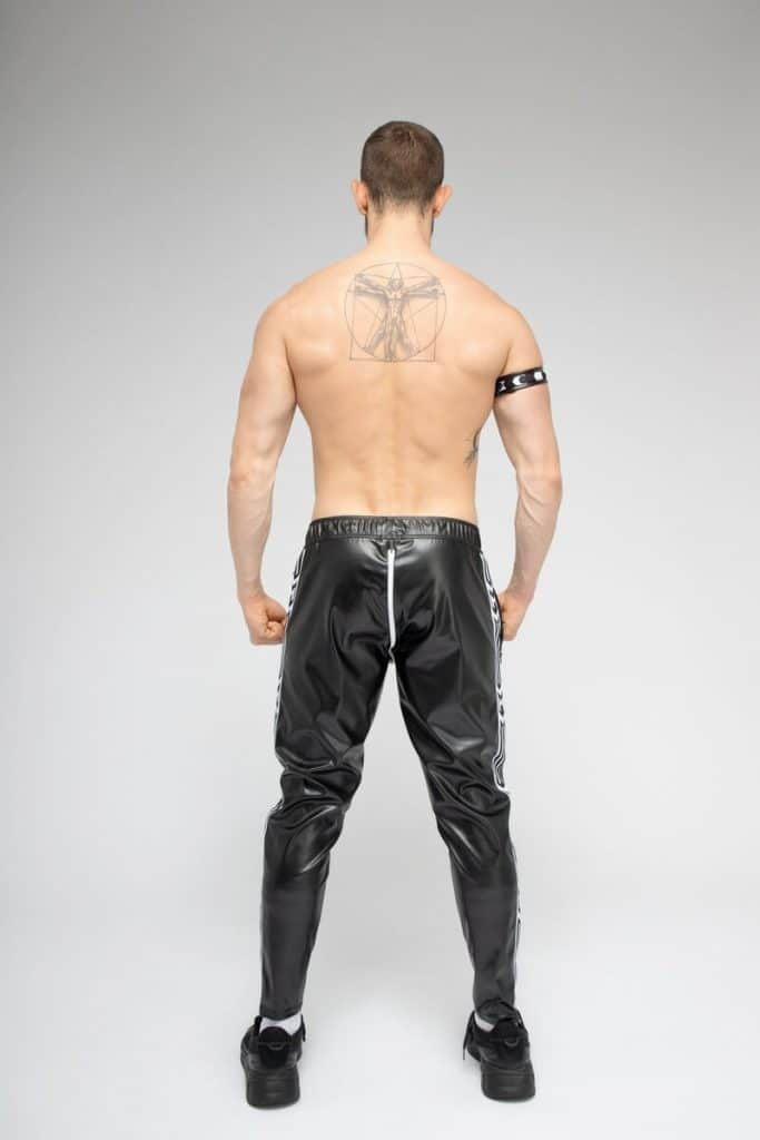 MASKULO SKULLA Shiny Trackie Pants with C-Ring + Full Zip