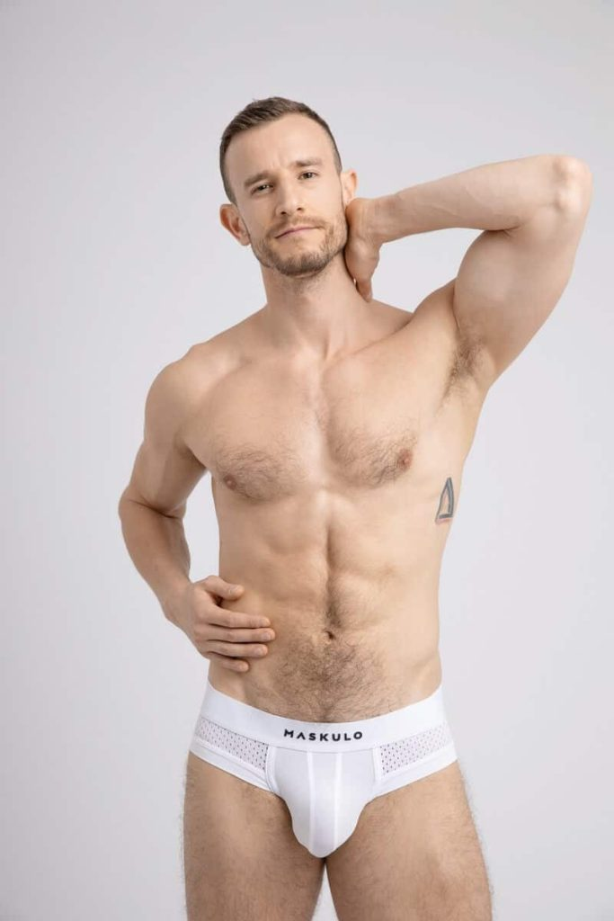 MASKULO Mesh Briefs with Microfiber Enhancing Pouch