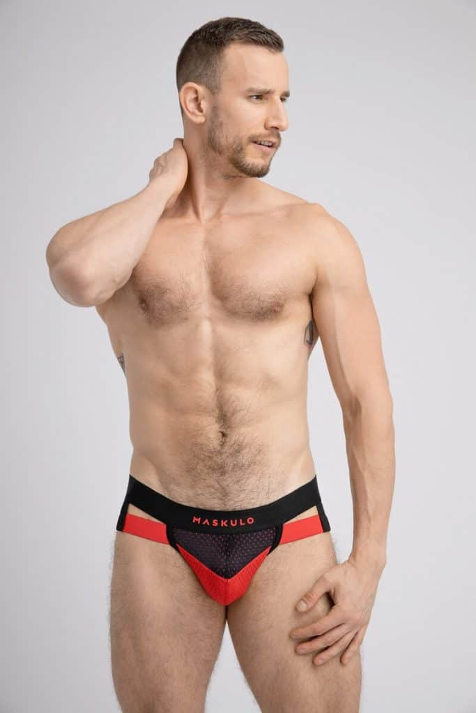 MASKULO Mesh Jockstrap with Microfiber Push-Up Pouch