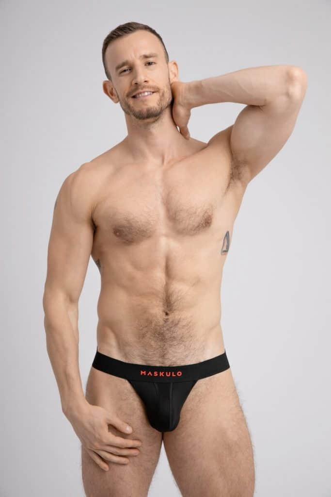MASKULO Microfiber Jockstrap with Push-Up Enhancement Pouch