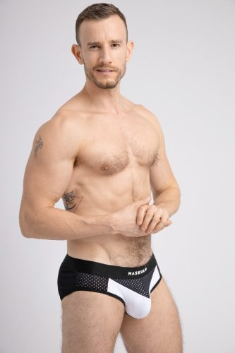 MASKULO Push-Up Mesh Brief with Microfiber Lined Pouch