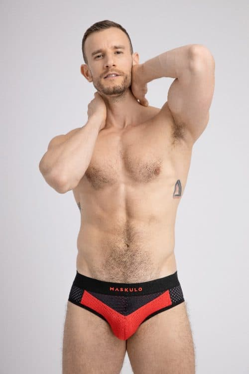 MASKULO PUSH-UP MESH BRIEF