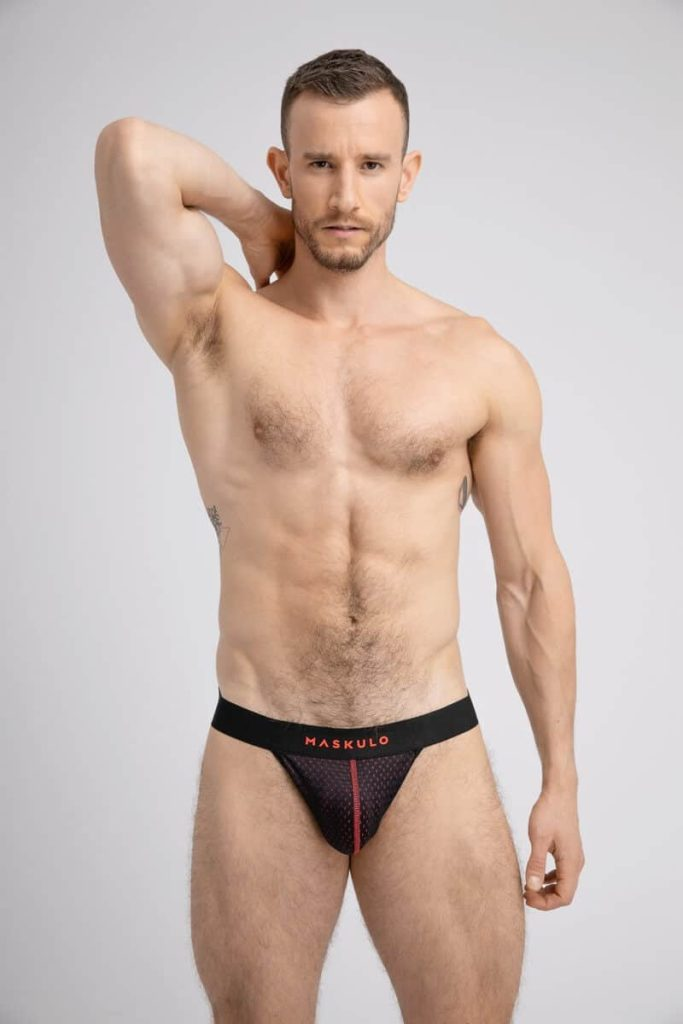 MASKULO Push-Up Mesh Jockstrap with Microfiber Lined Pouch