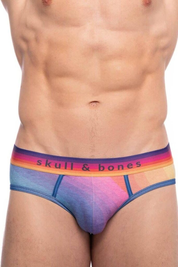 Skull & Bones Rainbow Backless Brief