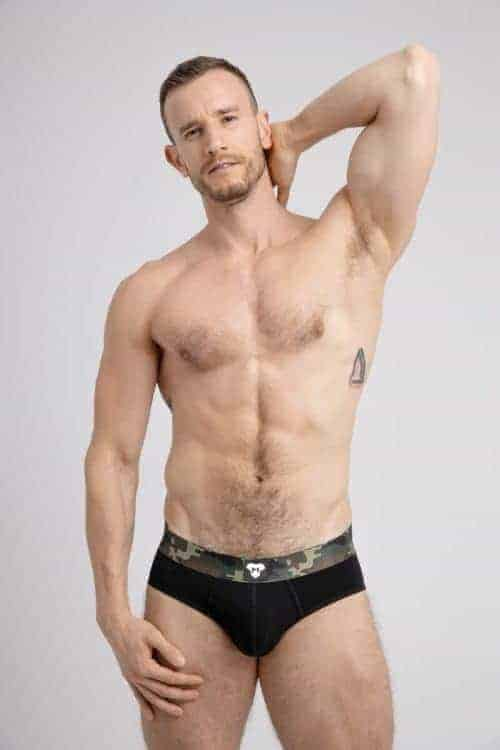 MASKULO Camouflage Cotton Brief with Enhancing Pouch