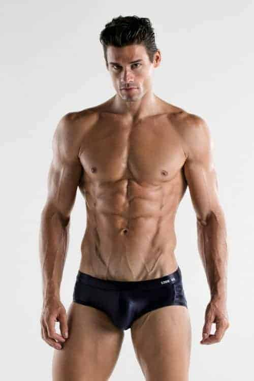 CODE22 Metallic Lace Swimming Brief with Padded Pouch