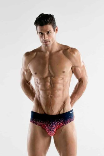 CODE22 Sunset Swim Brief with Power Shape Pouch