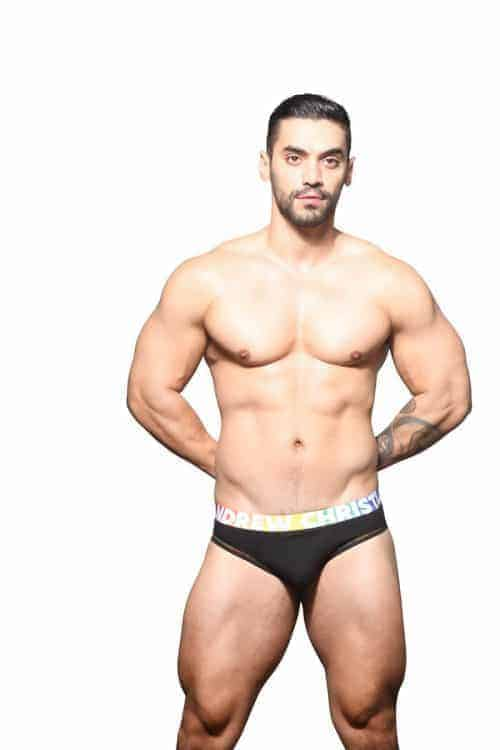 ANDREW CHRISTIAN PRIDE BACKLESS BRIEF
