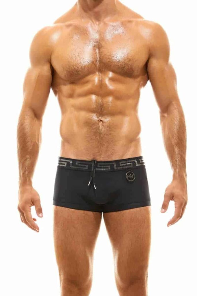 MODUS VIVENDI Glam Meander Swimming Trunk with Gold/Silver Foil Waistband