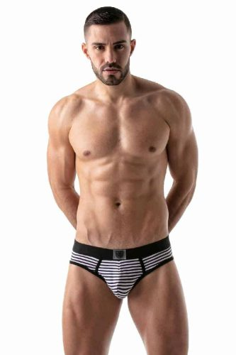 TOF Paris Striped Push-Up Backless Briefs