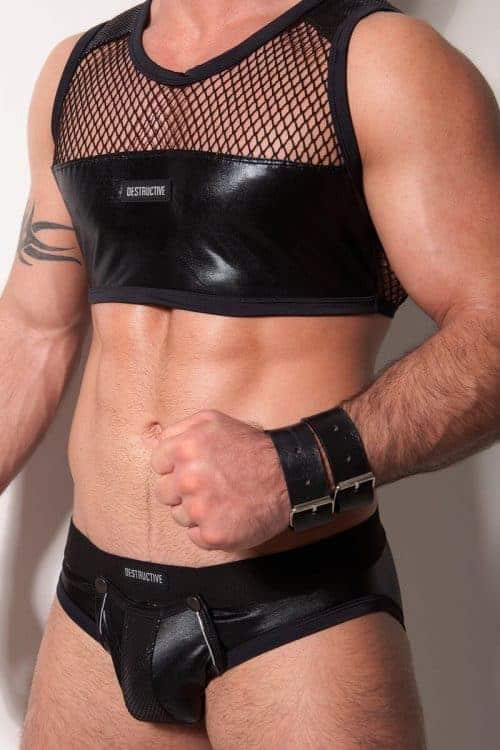 Destructive Fetish Backless Brief With Removeable Pouch